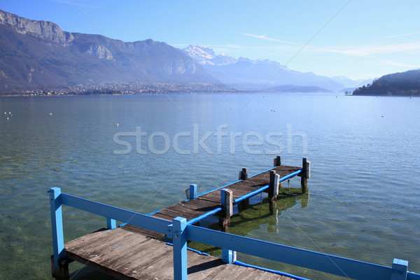 Annecy lake, France, and Alps Stock photo © Elenarts