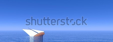 Sinking boat - 3D render Stock photo © Elenarts