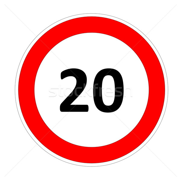 20 speed limit sign Stock photo © Elenarts