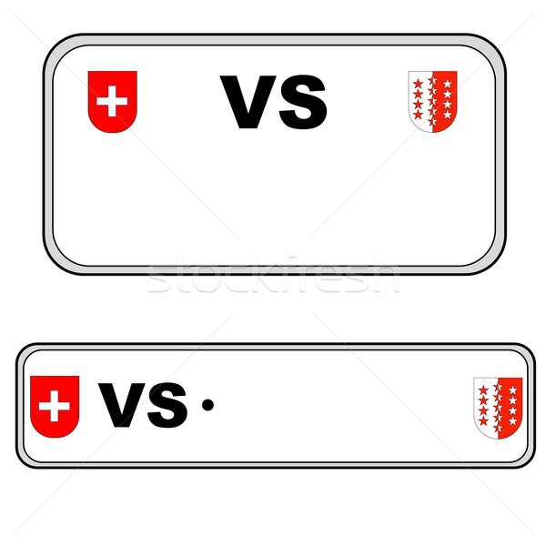 Valais plate number, Switzerland Stock photo © Elenarts