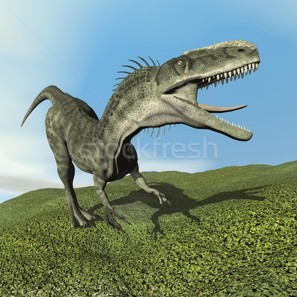 Monolophosaurus dinosaur - 3D render Stock photo © Elenarts