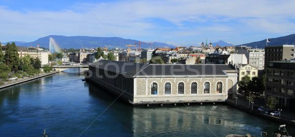 Rhone river, Geneva, Switzerland Stock photo © Elenarts