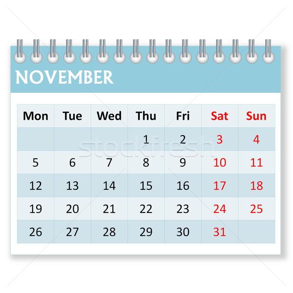Calendar sheet for november Stock photo © Elenarts