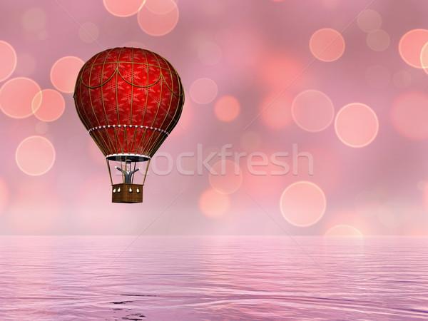 Balonem 3d jeden czerwony vintage wody Zdjęcia stock © Elenarts