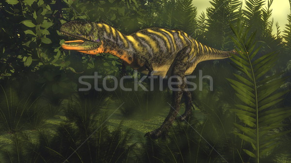 Stock photo: Aucasaurus dinosaur - 3D render