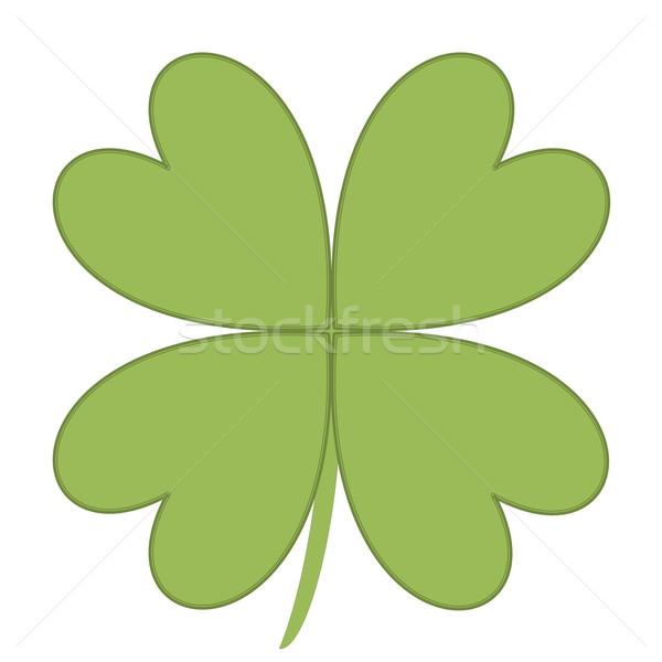 Four leaves clover Stock photo © Elenarts