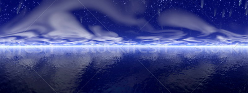 3d визуализации звезды океана темно ночь небе Сток-фото © Elenarts