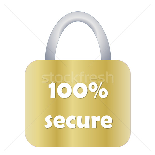 Totally secure padlock Stock photo © Elenarts