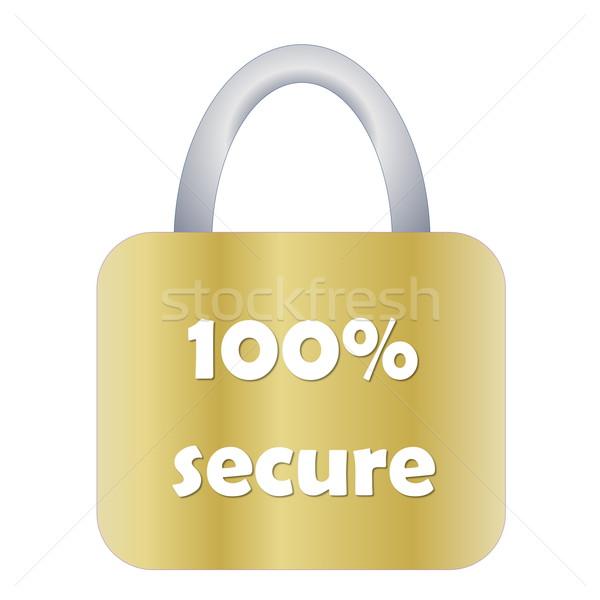 Totally secure padlock Stock photo © Elenarts