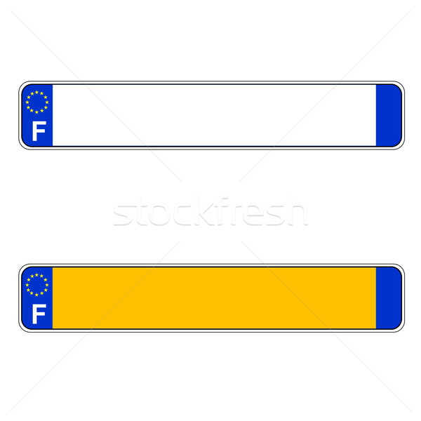 French plate number, Europe Stock photo © Elenarts
