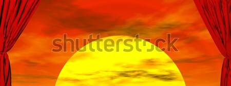 Red curtains - 3D render Stock photo © Elenarts