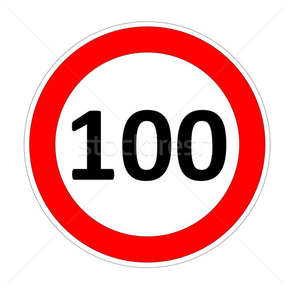 100 speed limit sign Stock photo © Elenarts