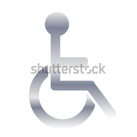 Black handicap icon Stock photo © Elenarts