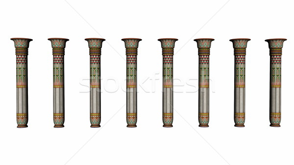 Columns of Egypt - 3D render Stock photo © Elenarts