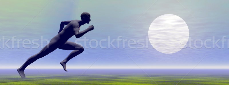 Sprinter - 3D render Stock photo © Elenarts