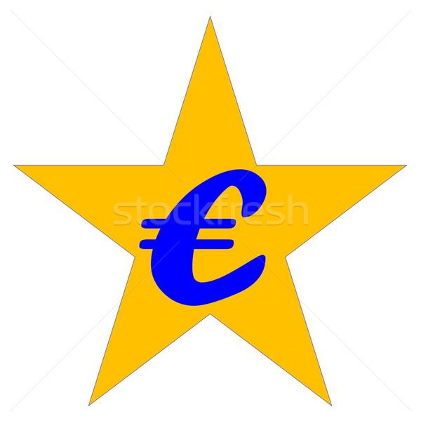 Avrupa topluluğu simge mavi euro sarı star Stok fotoğraf © Elenarts