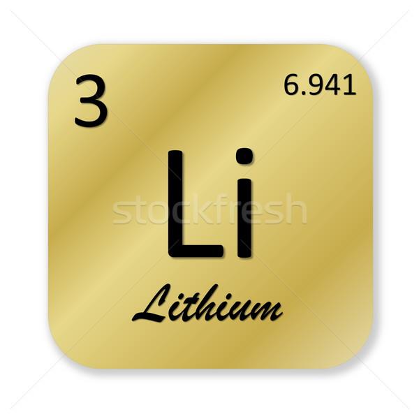 Lítio elemento preto dourado praça forma Foto stock © Elenarts