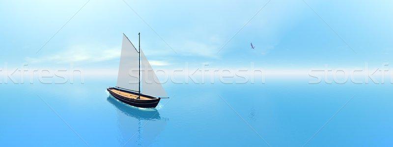 Vela barco efecto 3d uno Foto stock © Elenarts