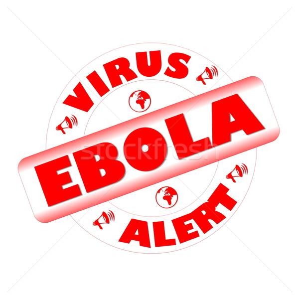 Ebola stamp Stock photo © Elenarts