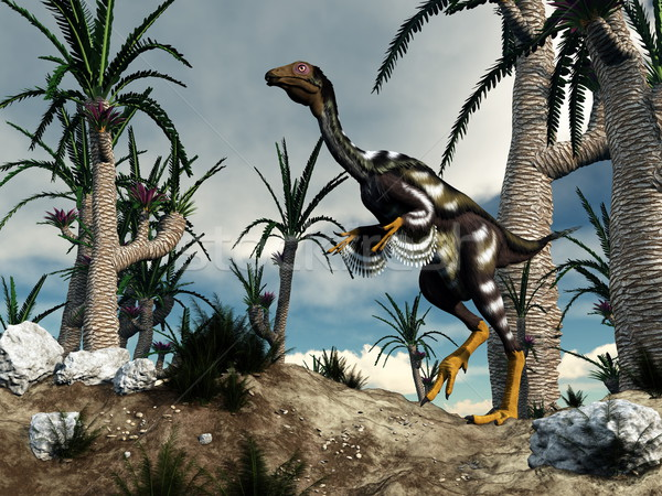 Caudipteryx dinosaur - 3D render Stock photo © Elenarts