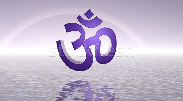 Violet aum / om Stock photo © Elenarts