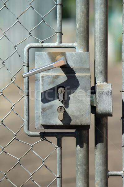 Széf bejárat fémes kívül ajtóküszöb kettő Stock fotó © Elenarts
