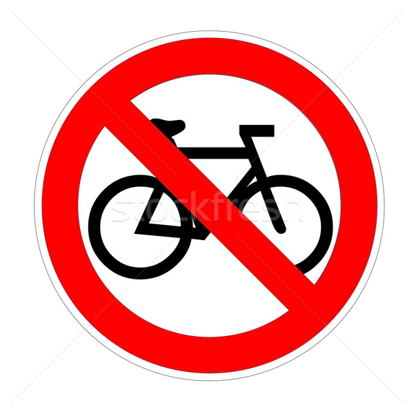 No bikesign Stock photo © Elenarts
