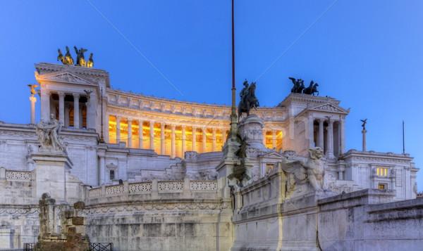 Vincitore altare Roma notte Italia panorama Foto d'archivio © Elenarts