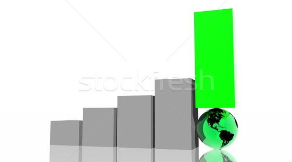 Earth in grey histogram Stock photo © Elenarts