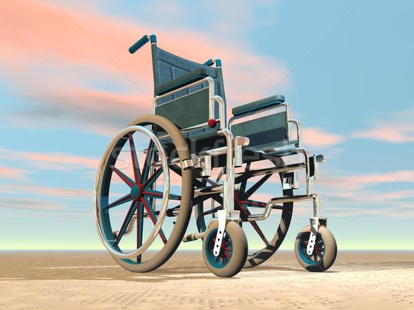 Wheelchair - 3D render Stock photo © Elenarts