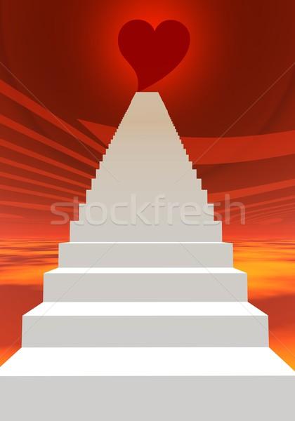 Stairs to love Stock photo © Elenarts