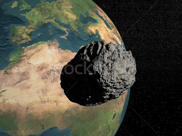 Meteorite going to earth Stock photo © Elenarts