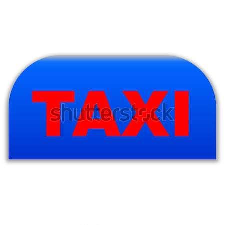 Blue taxi icon Stock photo © Elenarts