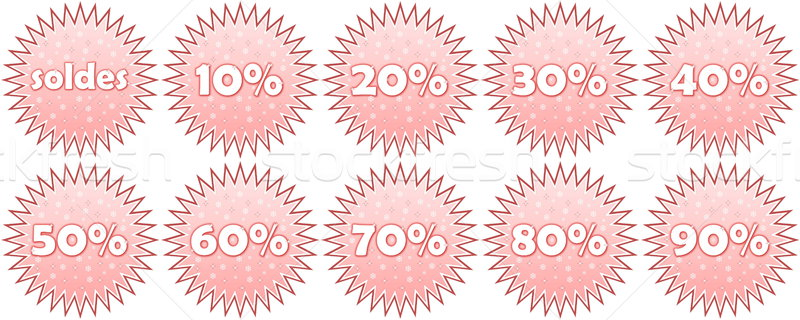 Set of french winter sale icons Stock photo © Elenarts