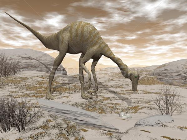 Gallimimus dinosaur - 3D render Stock photo © Elenarts