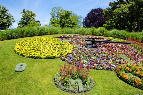 Famous flower clock, Geneva, Switzerland Stock photo © Elenarts