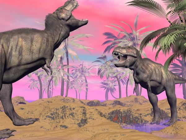 Tyrannosaurus argue - 3D render Stock photo © Elenarts