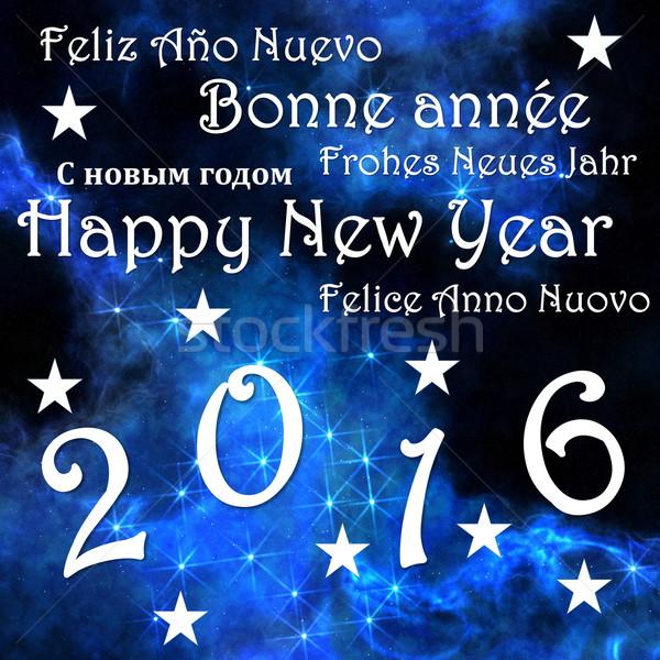Happy new year 2016 - 3D render Stock photo © Elenarts