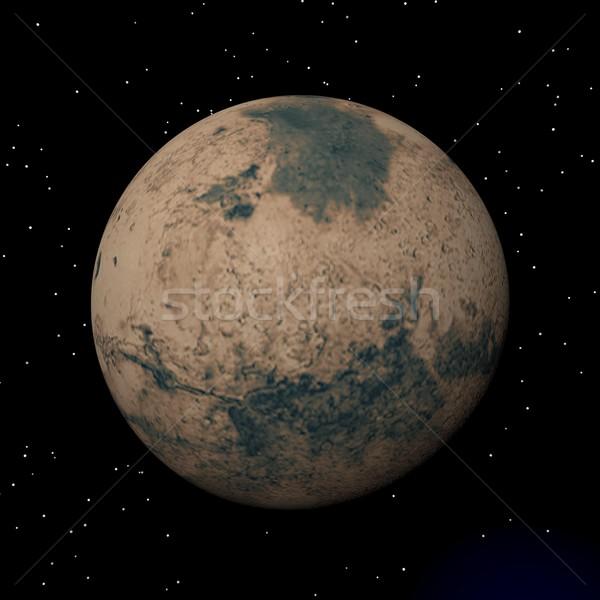 Mars planet at night - 3D render Stock photo © Elenarts