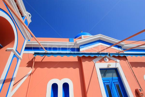 典型的な 教会 サントリーニ ギリシャ カラフル ストックフォト © Elenarts