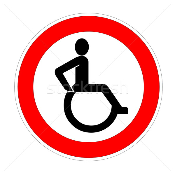 Handicap sign Stock photo © Elenarts