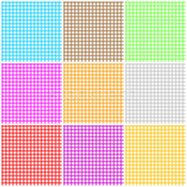 Set of seamless tablecloth pattern Stock photo © Elenarts