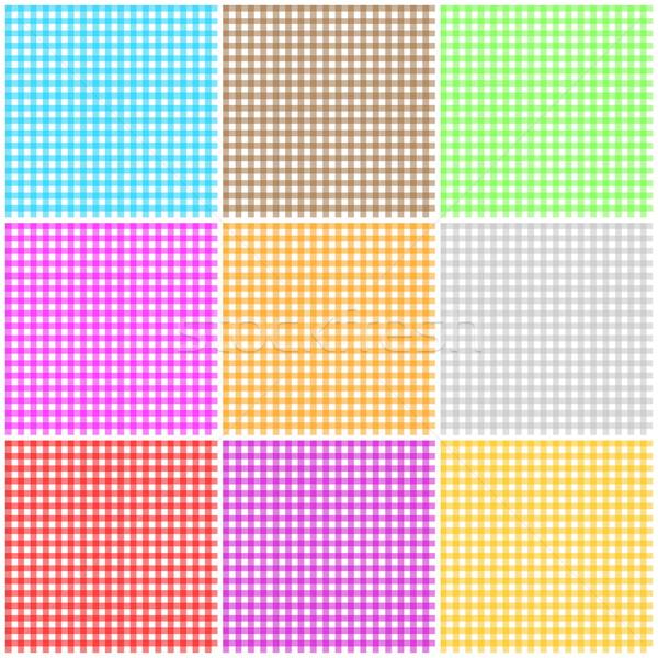 Establecer sin costura mantel patrón nueve colorido Foto stock © Elenarts