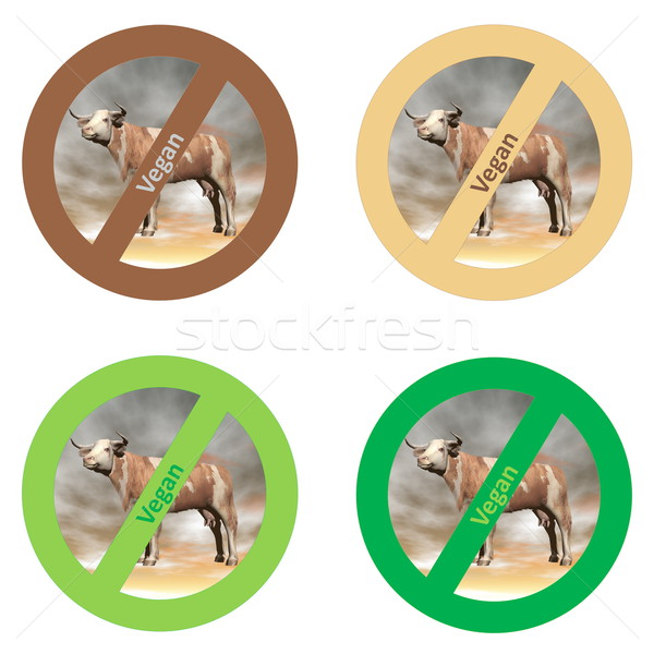 Stickers for vegan food Stock photo © Elenarts