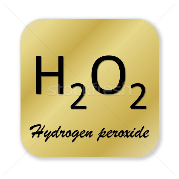Hydrogen peroxide symbol Stock photo © Elenarts