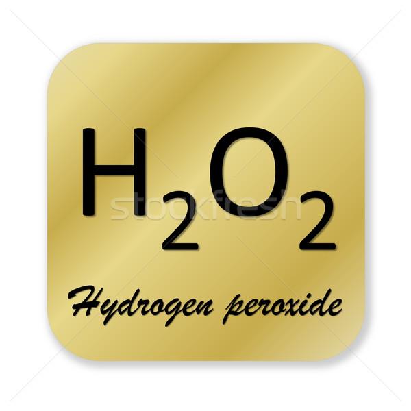 Hidrojen simge altın kimyasal formül yalıtılmış Stok fotoğraf © Elenarts