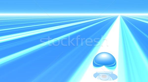 Pelota listo inicio uno metálico blanco Foto stock © Elenarts