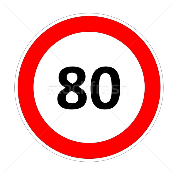 80 speed limit sign Stock photo © Elenarts