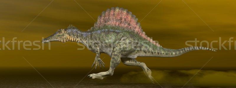 Spinosaurus dinosaur - 3D render Stock photo © Elenarts