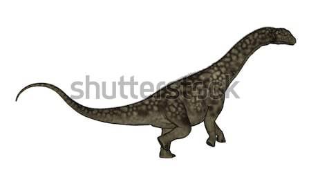 Argentinosaurus dinosaur standing up - 3D render Stock photo © Elenarts